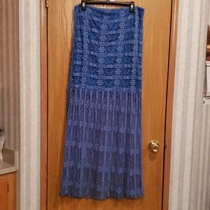 No Boundries Blue Long Skirt Size 15/17